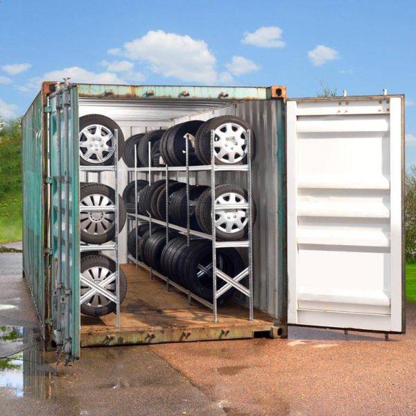 Bandenrekken container